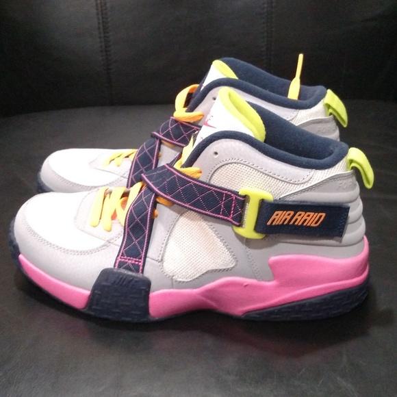 b6c05655 Nike Air Raid Wolf Grey/ Pink/ Navy/ Yellow 6.5Y